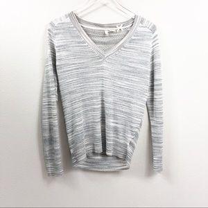 Anthropologie | Moth Gray V Neck Sweater